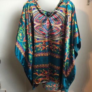 Multicolor caftan blouse V-neck by Astro one size